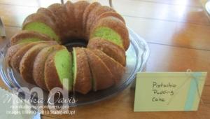 Pistachio Pudding Cake