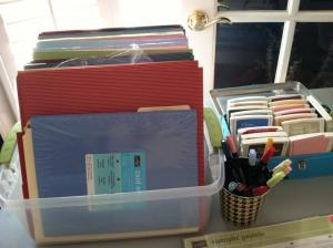 card stock, ink pads, refills, markers