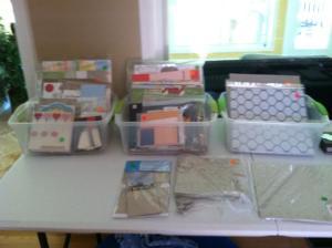 designer paper, scrapbook and card kits, chipboard