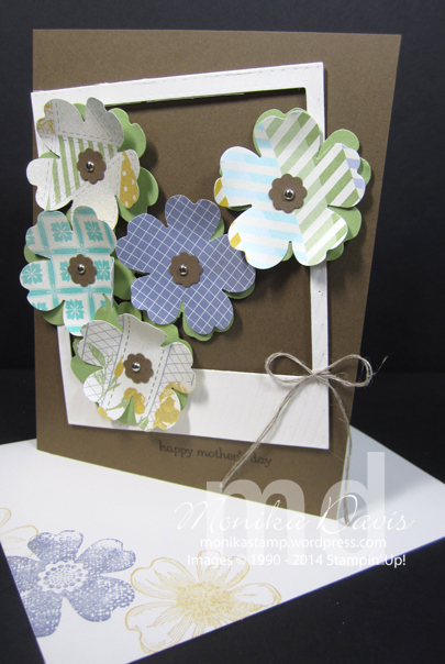 Spring card with Afternoon Picnic paper