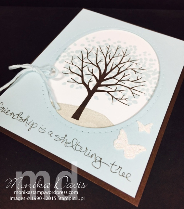 Sheltering Tree Window Card