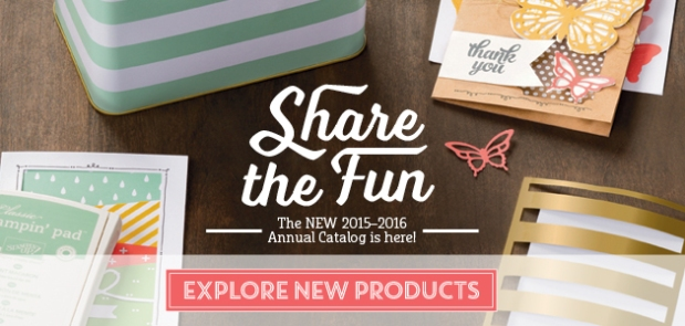 Say Hello to the brand new Stampin' Up! 2015-2016 Annual Catalog