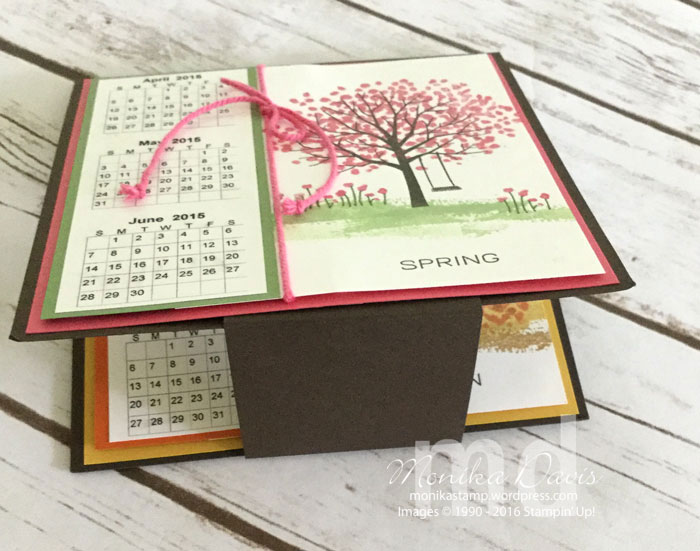 Blank Calendar Stamp : Sheltering tree seasonal calendar stamping together at