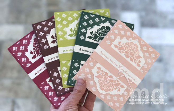 Floral Phrases, Fresh Floral Designer Series Paper, 2017-2019 Stampin' Up! In-colors