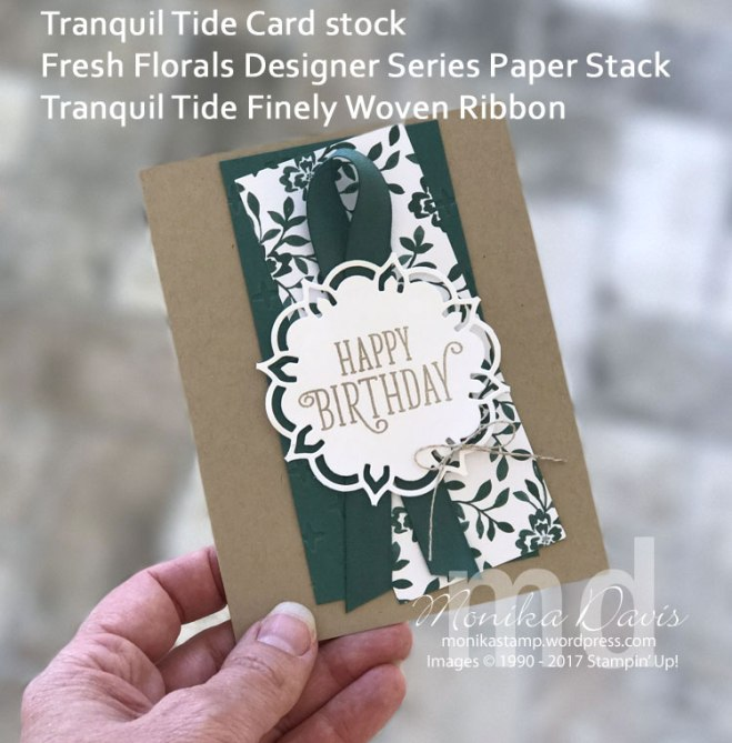 Tranquil Tide In-color, Stampin' Up!, Eastern Medallions, Happy Birthday Gorgeous