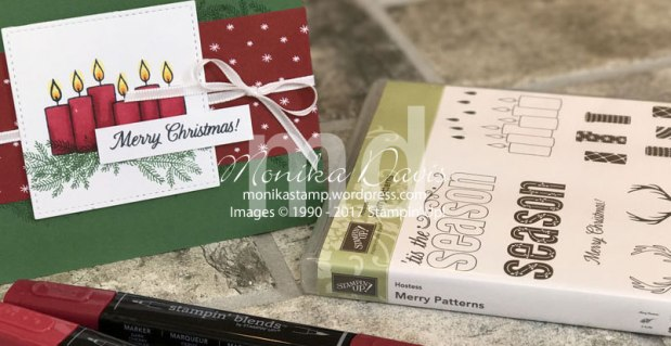 Merry Patterns meets Stampin' Blends