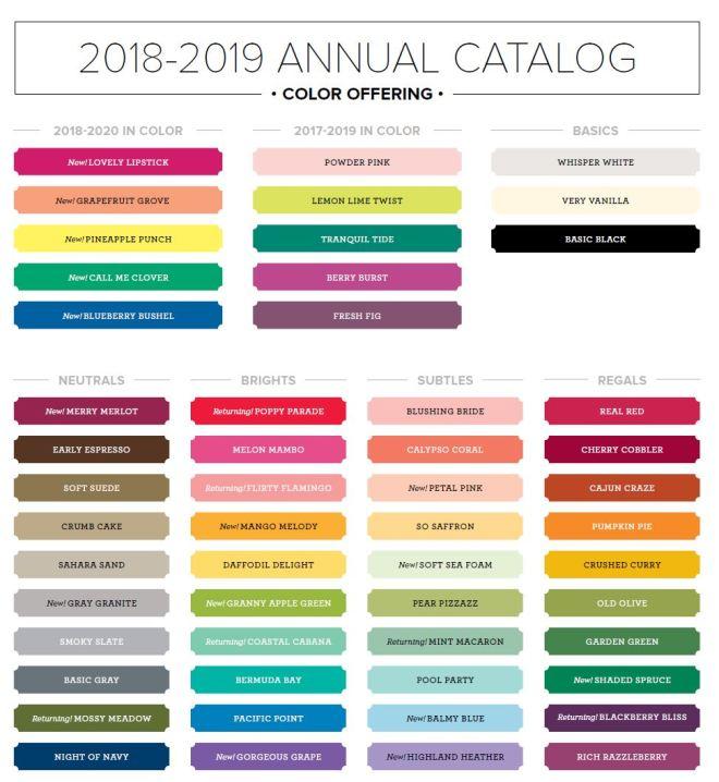 2018 colors